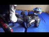 Two biker have fun