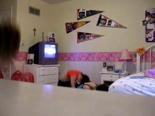 Dance trio enjoys performing in girls bedroom