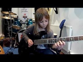 Крутое соло на гитаре 8-летней Зои Томпсон (The Mini Band)