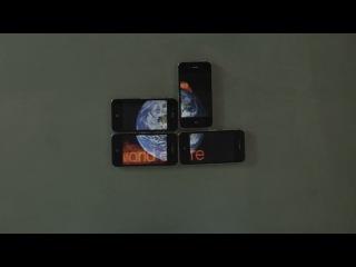 Великолепное исполнение песни «We Are Young» на четырех iPhone (Видео пазл)
