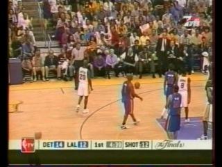 Финал НБА 2004. 1-я игра. Детройт - Лейкерс (1 часть)
