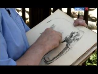 Урок рисования Сергея Андрияки. Наброски слона в зоопарке.