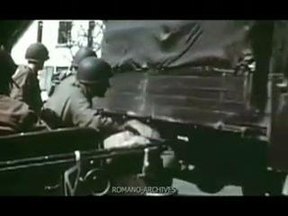 Вермахт покидает Италию под эскортом американских войск, апрель/май 1945 года