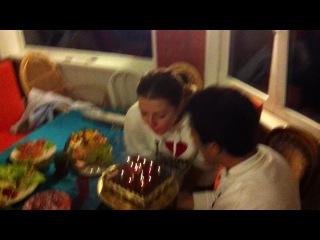 Ты погасила свечи загадала желание и торт упал D