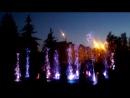 цветной фонтан с музыкой