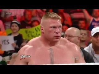 Brock Lesnar сломал руку Triple H захватом Кимура