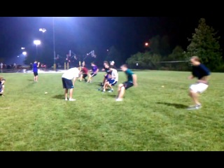 Ultimate Frisbee: Linear speed / acceleration drill 3-1-2-1 backpedal Tim Morrill