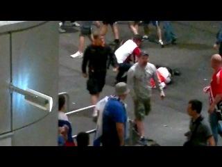 Россия - Чехия | Драка 08.06.2012