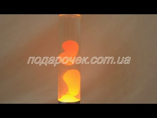 Лава лампа цилиндр оранжевая