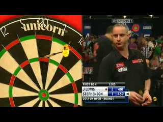 Jamie Lewis - Mark Stephenson (UK Open 2012 / 1 Round)
