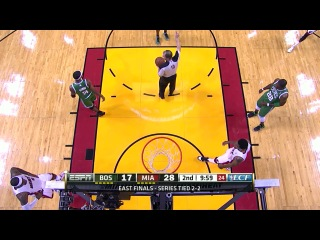 [720p]  NBA Playoffs 2012 / East / Finals / Игра 5 /  05.06.2012 / {Miami Heat vs Boston Celtics} [Часть1]