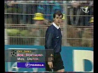 Лига Чемпионов 1996 1997 1 2 финала Первый матч Боруссия Манчестер Юнайтед 2 тайм