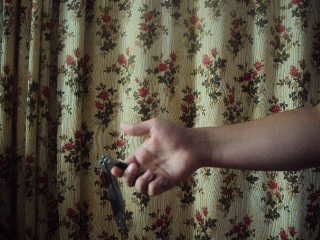Нож-бабочка,Трюк Vertikal Open/Close