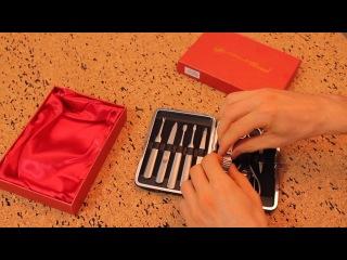 Набор для маникюра и педикюра в подарочной упаковке (цвет крокодиловая кожа) MS-MIX-02