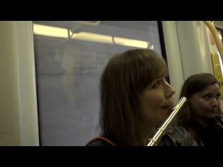 Flash mob in the copenhagen metro. copenhagen phil playing peer gynt.