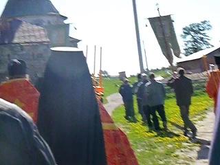 Соловки. Крестный ход в Соловецком монастыре на Праздник отдания Пасхи, 2013, часть 1