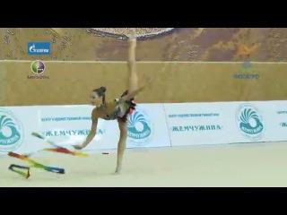 Трубникова Анна, упражнение с лентой (финалы в отдельных видах Чемпионата России 2013 в Санкт-Петербурге)