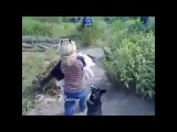 Протистояние кота на девочке и дибильной собачки..