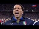 Буффон душевно поет гимн Италии
