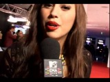 Kenza on the red carpet, MTV EMA 2009