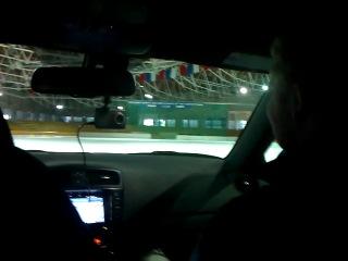 Lexus ISF - корова на льду)