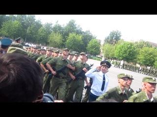Торжественный марш))) присяга 4.08.12 г., ЖД Войска, в/ч 12672))