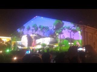 Лазерное шоу...манежка...в ночь с 8 на 9 окт...снимала на мобилку.))