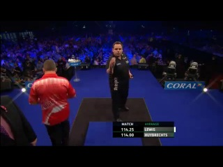Adrian Lewis vs Kim Huybrechts (PDC Coral Masters 2013 / First Round)