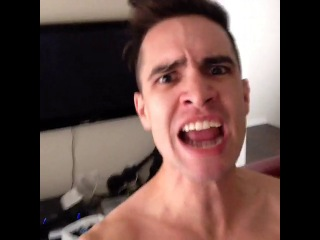 Brendon Urie - #howto act tough when you're alone at home.