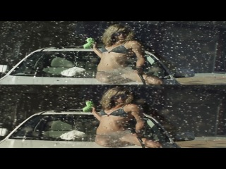 SEXY GIRL Bikini__3D -Car Wash Вертикальная анаморфная стереопара.