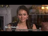 Йен Сомерхолдер и Нина Добрев интервью для EW(О вампирском сексе Елены в 4 сезоне «Дневников Вампира».)