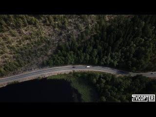 Съемки сериала Седьмая руна в Карелии с высоты птичьего полета...