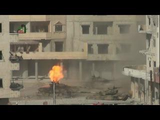 Выстрел по Т72 из РПГ 29-Вампир (Сирия).