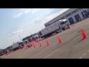 Финальный параллельный слалом - Национальный финал конкурса Scania Молодой Водитель Грузовика