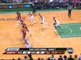NBA PlayOffs 2008: Eastern Conference SemiFinals Cleveland Cavaliers @ Boston Celtics, Game 7. Parte 1.