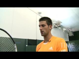 Time Magazine: «7 Tennis Lessons with Novak Djokovic»