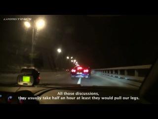 Nissan GT-R AMS Alpha 12+ vs Lamborgini Gallardo Nera Twin Turbo Underground Racing Race Version