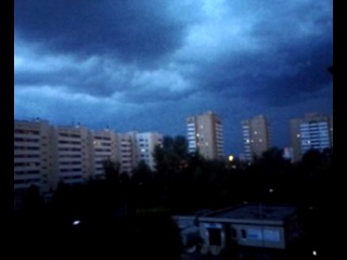 Небесные волны над Казанью часть 2 : темнота в городе, ураган, погода, шторм; русский полуСМЕРЧ!!!