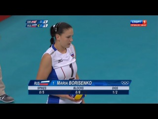 Олимпиада 2012 Волейбол Женщины Англия - Россия 0:3