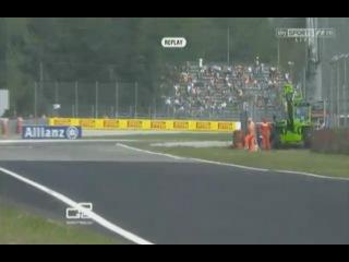 GP2 2012 Italy Practice Calado Crash