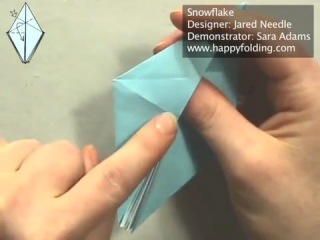 Мастер-класс: снежинка оригами (Сара Адамс)