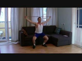 Как накачать ноги в домашних условиях..mp4