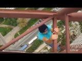 Ребята отжигают с GoPro Hero 3 Black на башенном кране, улетное видео!!!!