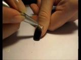 Маникюр с губкой (эффект нарощенных ногтей)