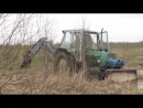 мой ЭО—2621 В-3 на базе трактора ЮМЗ-6, вылезаем из болота