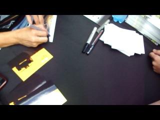 МСR 2012. Автограф Джордана Трессона и Романа Русинова. Nissan Le Mans.