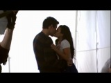 GLEE - Flashback Lea &amp Cory Filming Their First On-Screen Kiss
