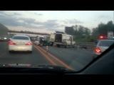 """Ужасная авария Мерседеса """"Gelendwagen"""" на Новорижском шоссе."""
