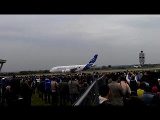 МАКС 31.08.2013  Посадка AIRBUS А380