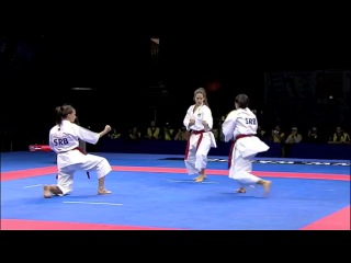 Karate Female Team Kata Bronze Medal - Serbia vs Italy - WKF World Championships Belgrade 2010 (1-2)
